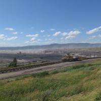 Povrchový lom na těžbu hnědého uhlí - Vršany